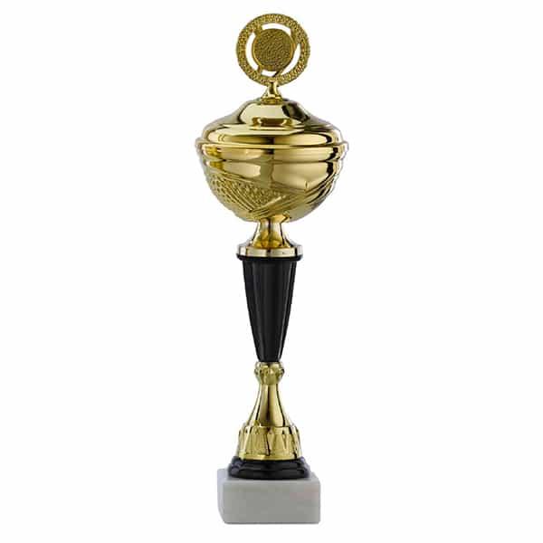 Gouden trofee met zwarte details