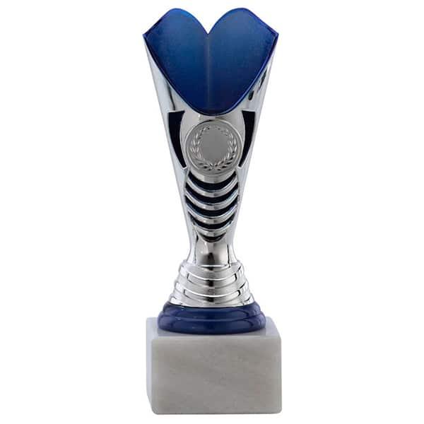 Kleine trofee met open ontwerp blauw