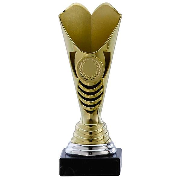 Kleine trofee met open ontwerp goud