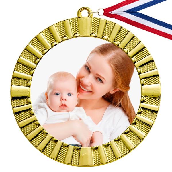 Medaille met eigen foto