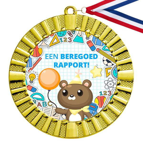 Beloning goed rapport gouden medaille