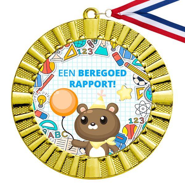 Goed rapport cadeau gouden medaille